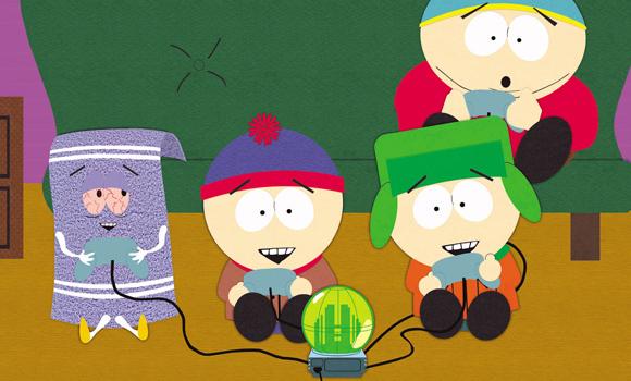 Towelie, Stan, Kyle und Cartman mit Okama GameSphere