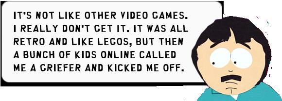 Randy Marsh Zitat über Minecraft