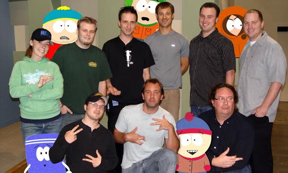 Blizzard Mitarbeiter mit Trey Parker & Matt Stone