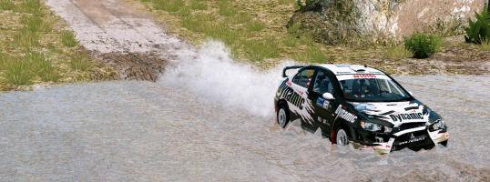 WRC 3 - Wasserdurchfahrt